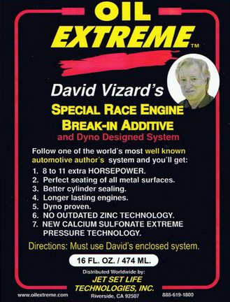 David Vizard Special Race Engine Break-in Additive